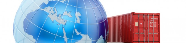 Logistics, shipping and freight transportation business concept